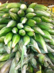 A beautiful stack of corn at Wal-Mart