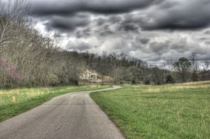 HDR shot of the winery road as it was supposed to look