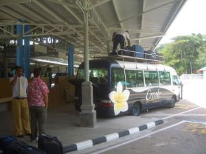 A bus in the Seychelles